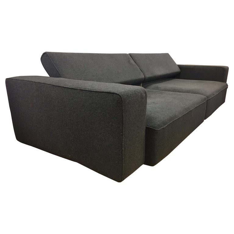 Pair Of Matching B Italia Sofas Made In Italy Paolo Piva Design Two Piece For