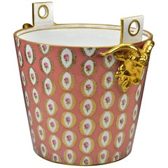19th Century Ovington Brothers Dresden Porcelain Milk Bucket with Ram Heads