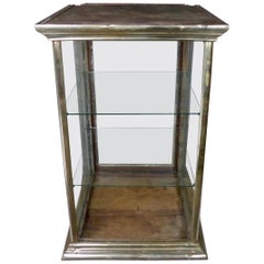 1920 Nickel-Plated Brass Mercantile Counter Top Display Case