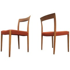Danish Midcentury Oak Side Chairs by Søren Willadsen, 1960s