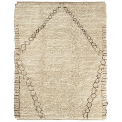 Diamond Hand Woven Traditional Style Moroccan Wool Berber Rug