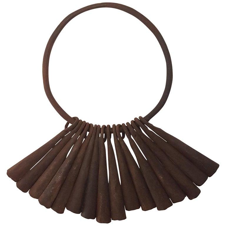 16 Yaruba Tribal Currency Gongs on Hoop, Ex Seward Kennedy Collection For Sale