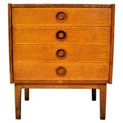 Vintage Danish Ash Little Sideboard, 1960s
