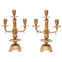 Aesthetic Style Cast Metal Candleholders