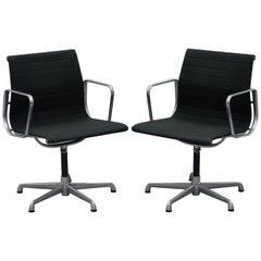 1 of 2 Original EA117 Charles & Ray Eames ICF Vitra Office Swivel Armchairs