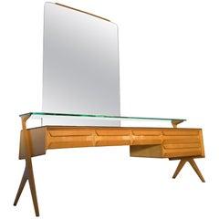 Italian Maple Sideboard Vanity Dresser by Vittorio & Plinio Dassi, 1950s