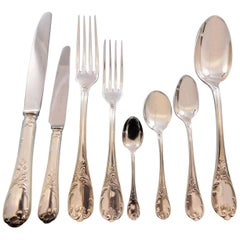 Marly by Christofle Silverplate Flatware Set Service for 12 Dinner 100 Pc France