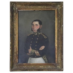 19th Century French Oil Painting Portrait of Napoleonic Official