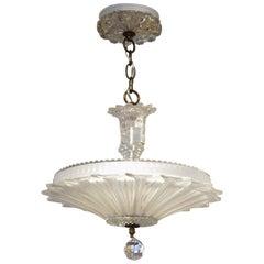 Art Deco Chandelier Pendant in Crystal