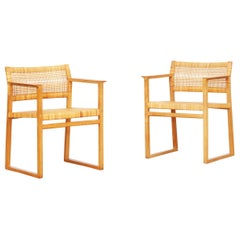 Pair of Dining Chairs/Armchairs by Børge Mogensen for Fredericia in Oak, Denmark