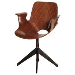 Vittorio Nobili for Fratelli Tagliabue Desk Chair, Italy, 1950s
