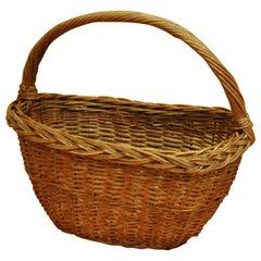 Vintage Wicker Basket, circa 1950