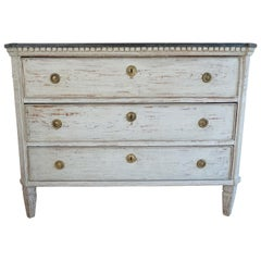 Neoclassical Gustavian Chest in Original Paint, Sweden, circa 1800