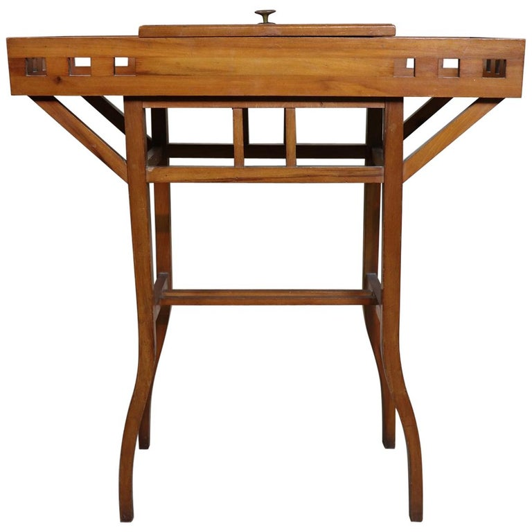 20th Century Italian Art Nouveau Sewing Table or Side Table For Sale
