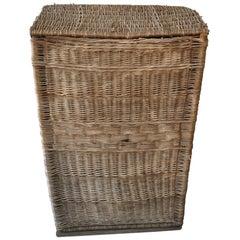 Extra Large Antique Farmhouse Basket, 1940s