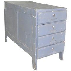 Grey Patina Vintage Chest of Drawers, 1950s