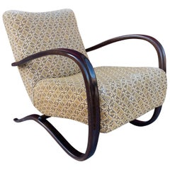 Jindřich Halabala Model H-269 Ebonized Lounge Armchair, 1930s