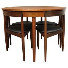 Hans Olsen Teak Roundette Dining Room Set for Frem Rojle, Mid-Century Modern