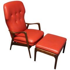 Teak Wingback Lounge Chair for Westnofa by Ingmar Relling