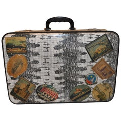 Midcentury Very Unique Vintage Suitcase, 1960s