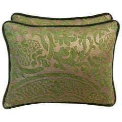Pair of Green Orsini Fortuny Pillows