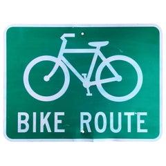 California Bike Route Sign
