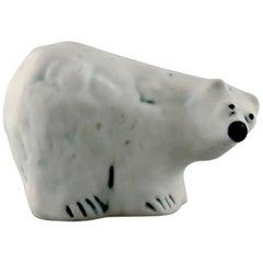 Henrik Allert for Pentik, Finland Unique Polar Bear in Ceramics, Late 1900s