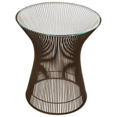 Warren Platner Side Table with Glass Top