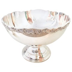 20th Century Silver Plate Footed Punch Bowl by, Towle