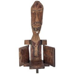 Vintage Candleholder, Java, Wayang Puppet Theatre, Mid-Late 20th Century