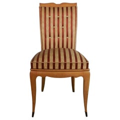 Elegant Art Deco Chair in Sycamore in the Style of René Prou