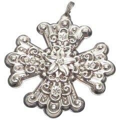 1974 Reed & Barton Sterling Silver Christmas Cross Ornament