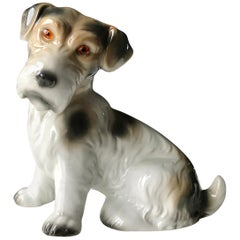 Dog Figurine Lamp Early 20th Century Ozon Table Lamp by Fog and Mørup