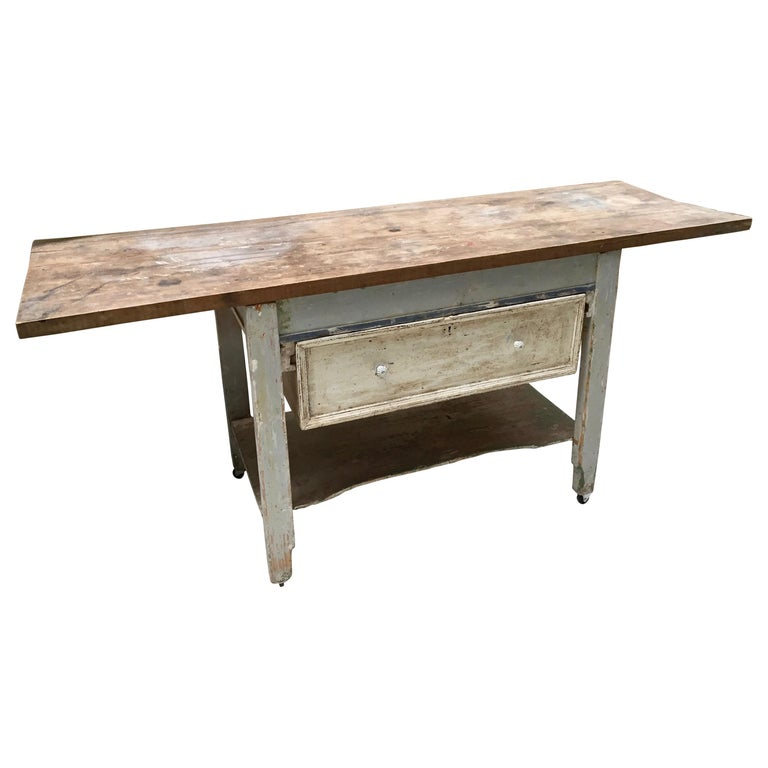 Rustic Kitchen Work Table or Serving Table For Sale