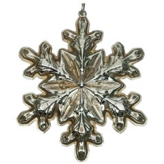 Gorham Sterling Silver Snowflake Ornament, 1973