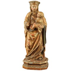"""Virgin with Child"", Polychromed Wood, circa First Half of the 16th Century"