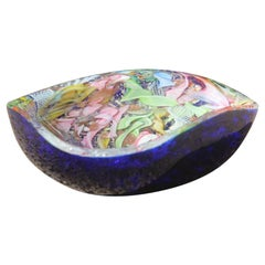 Avem Bowl Glass Murano Italian Design, 1950s Multicolor Toso Martens
