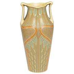 Large Art Noveau Twin Handled Vase