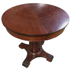 Yacht Table Round Dining or Side Table, 1920s