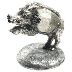 Rare Signed Gabriella Crespi Wild Boar Sculpture, 1970s, Italy