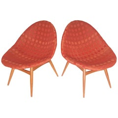 Midcentury Design Chairs of Miroslav Navratil, 1970s