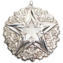 1998 Gorham Sterling Silver Christmas Star Ornament
