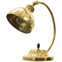 Vintage Brass Table Lamp, 1915s