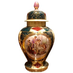 Late 19th-20th Century French Vase with a Cover