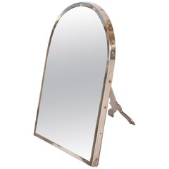 French Sterling Silver Dressing-Table Mirror by Gustave Keller Freres, 1950s