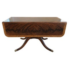 Classical Style Drop-Leaf Library Table
