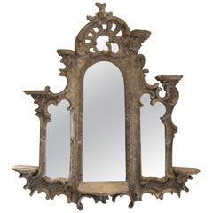 19th Century French Triptych Mirror