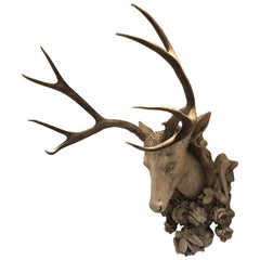 Plaster Stag Mount