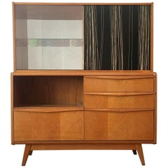 Wooden Sideboard with Bar from Jitona, 1960s
