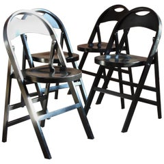 Set of Four Folding Bauhaus Chairs, Model B 751, Thonet